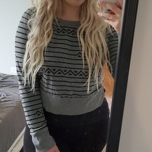 Urban Outfitters gray and black sweater Medium